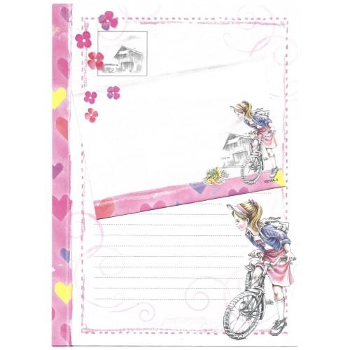 CAPA & Conjunto de Papel de Carta Shinn Jee Menininha PB180166-4