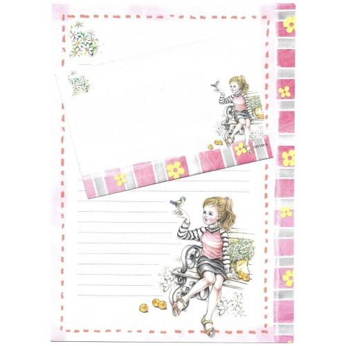 CAPA & Conjunto de Papel de Carta Shinn Jee Menininha PB180166-5