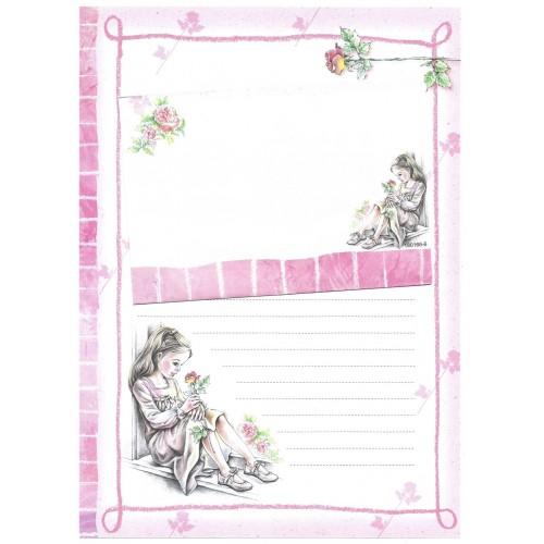Conjunto de Papel de Carta Shinn Jee Menininha PB180166-6
