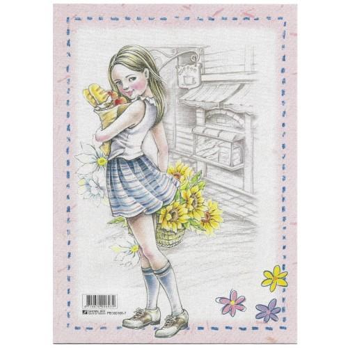 CAPA & Conjunto de Papel de Carta Shinn Jee Menininha PB180166-7