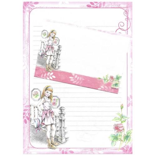 Conjunto de Papel de Carta Shinn Jee Menininha PB180166-8