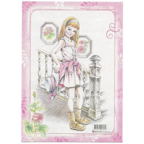 CAPA & Conjunto de Papel de Carta Shinn Jee Menininha PB180166-8