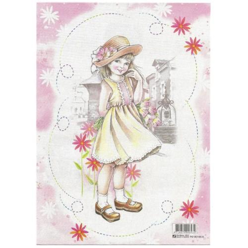 CAPA & Conjunto de Papel de Carta Shinn Jee Menininha PB180166-9
