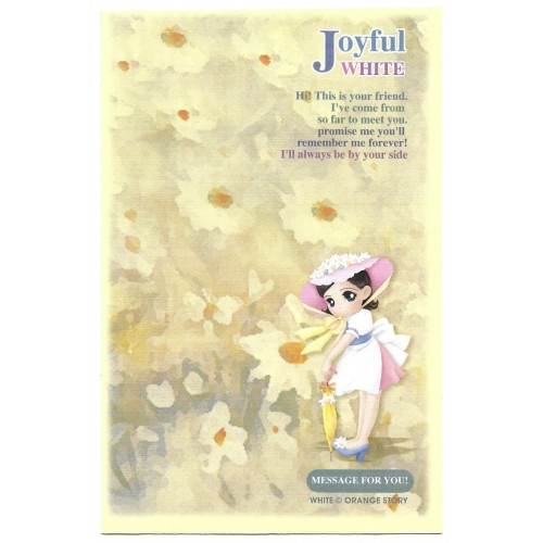 Envelope AVULSO Importado Joyful White Orange Story