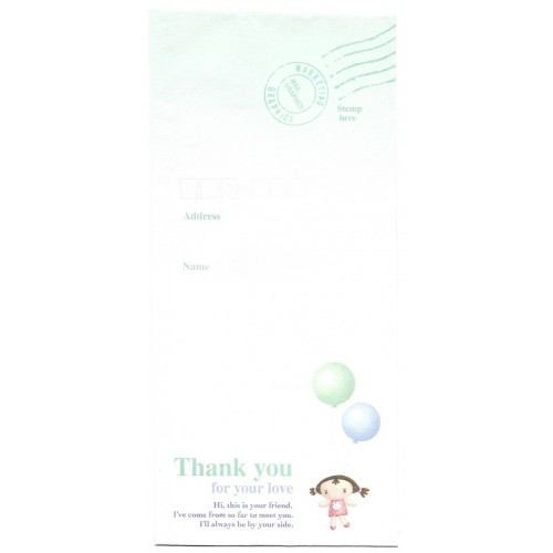 Envelope AVULSO Importado Thank You Angel Orange Story