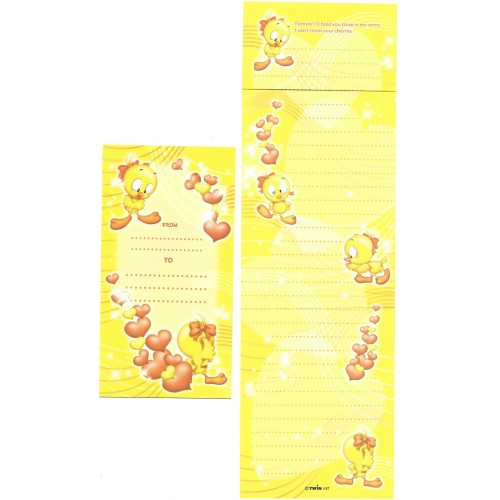 Conjunto de Papel de Carta Importado Bird CAM Twín Art