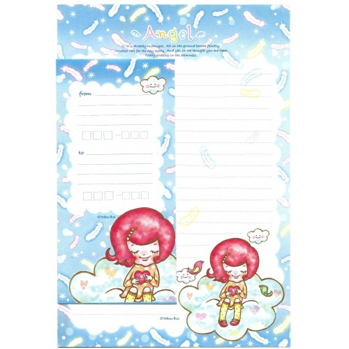 Conjunto de Papel de Carta Importado Angel Yellow Bus