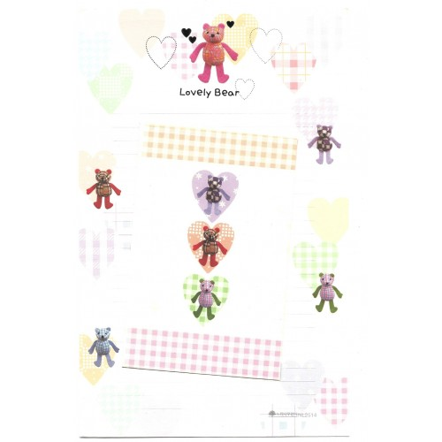 Conjunto de Papel de Carta Importado Lovely Bear - NL