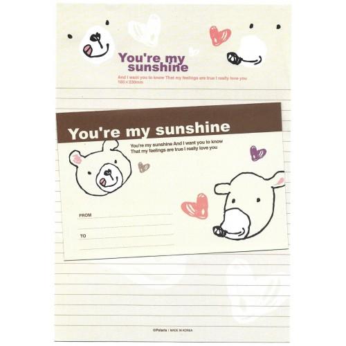 Conjunto de Papel de Carta Importado You're My Sunshine Polaris
