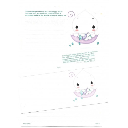 Conjunto de Papel de Carta Importado White Mr.K