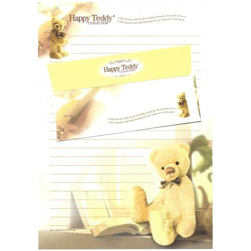 Conjunto de Papel de Carta Importado Happy Teddy CBR1 Ido
