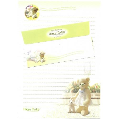 Conjunto de Papel de Carta Importado Happy Teddy CBR2 Ido