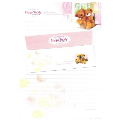 Conjunto de Papel de Carta Importado Happy Teddy CBR4 Ido