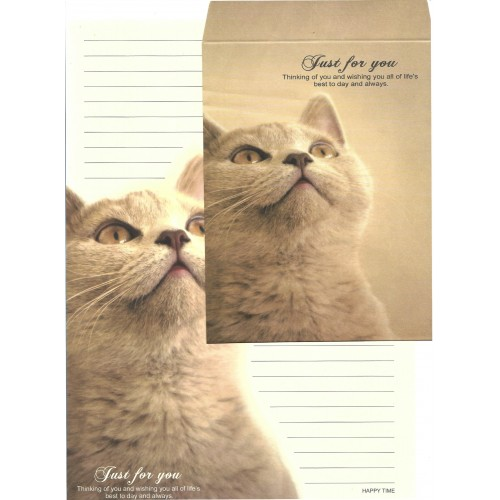 Conjunto de Papel de Carta Importado Happy Time Cat 2