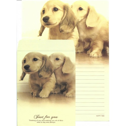 Conjunto de Papel de Carta Importado Happy Time Dog 1