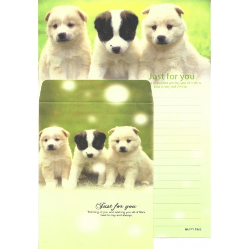 Conjunto de Papel de Carta Importado Happy Time Dog 2