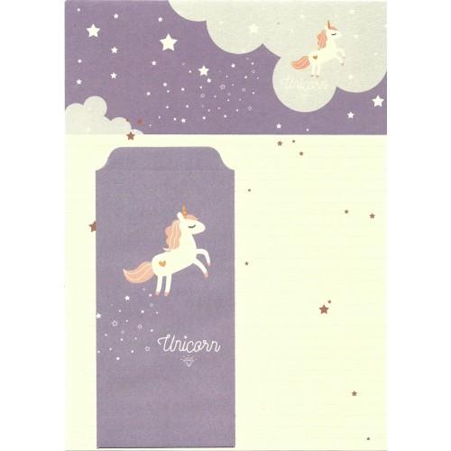 Conjunto de Papel de Carta Importado Unicorn 1