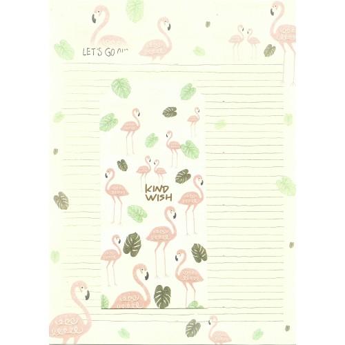 Conjunto de Papel de Carta Importado Flamingo 1