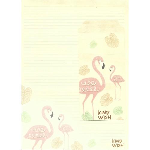 Conjunto de Papel de Carta Importado Flamingo 3
