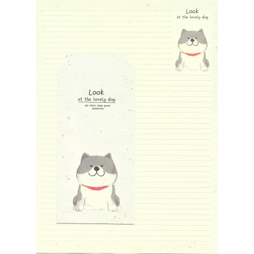 Conjunto de Papel de Carta Importado Lovely Dog 1