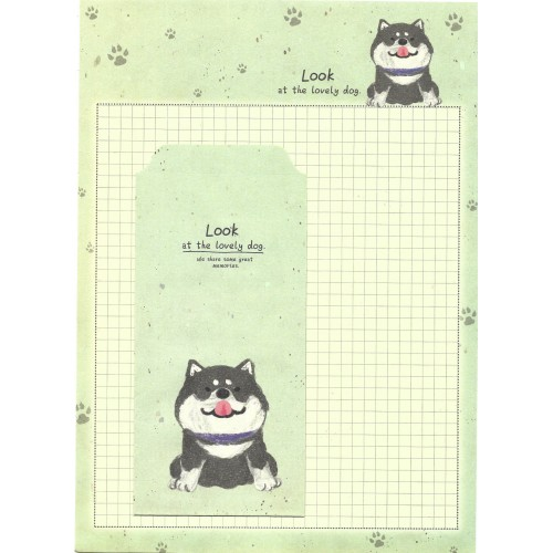 Conjunto de Papel de Carta Importado Lovely Dog 2