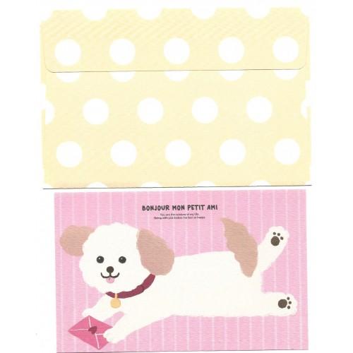Conjunto de Papel de Carta Bonjour DOG - Artbox Korea