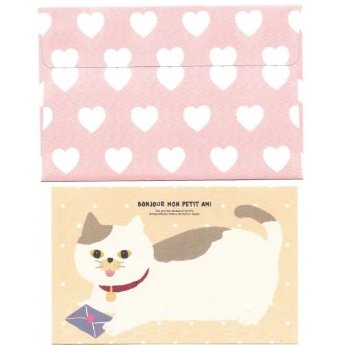 Conjunto de Papel de Carta Bonjour CAT - Artbox Korea
