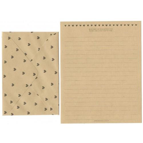 Conjunto de Papel de Carta Kraft Letter Artbox Korea