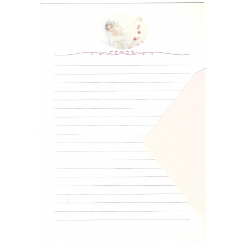 Ano 1989. Conjunto de Papel de Carta Keibun Ohta CRS Märhen Collection Sanrio