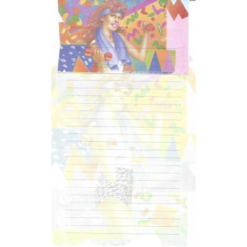 Capa & Conjunto de Papel de Carta Antigo Importado DASEN 1784C