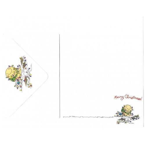 Conjunto de Papel de Carta Antigo Importado Ziggy Merry Christmess