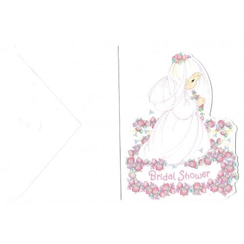 Ano 2002. Cartão Importado Precious Moments Bridal Shower