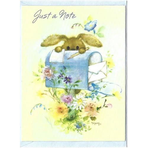 Notecard Antigo Importado Mary Hamilton RABBIT 02 - Hallmark