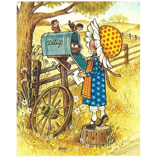 Ano 1974. Notecard Cartão Importado Daisy 2 Kirby Martin