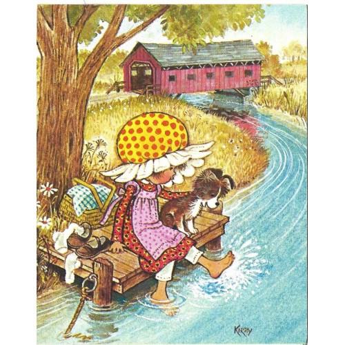 Ano 1974. Notecard Cartão Importado Daisy 3 Kirby Martin