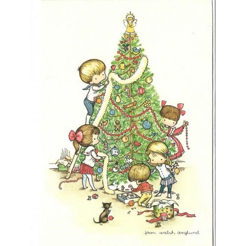 Ano 1961. Notecard Cartão Importado Christmas Joan Walsh Anglund