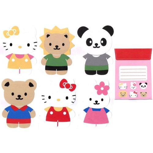 Ano 2003. Conjunto de Papel de Carta Hello Kitty Die-Cut CRS Sanrio