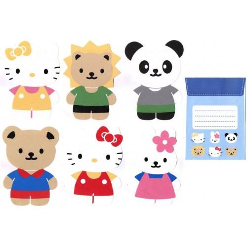 Ano 2003. Conjunto de Papel de Carta Hello Kitty Die-Cut CAZ Sanrio
