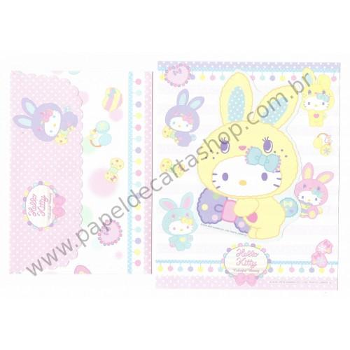 Ano 2010. Conjunto de Papel de Carta HK Colorful Bunny1 CAM Sanrio