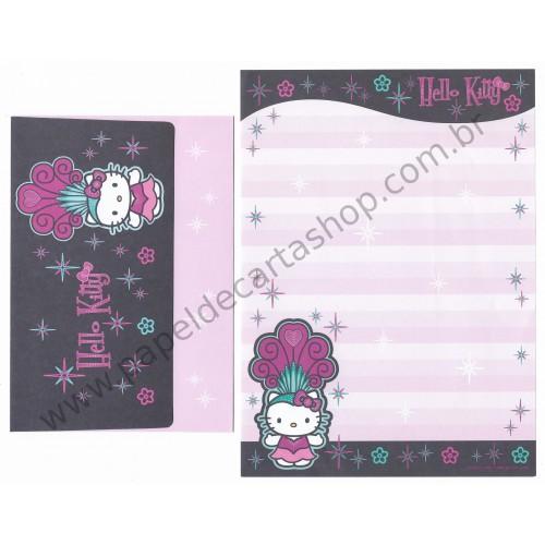 Ano 2007. Conjunto de Papel de Carta Hello Kitty Custom Sanrio