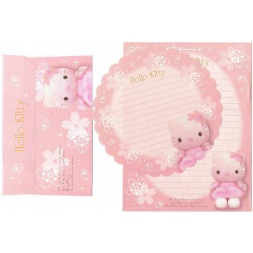Ano 2007. Conjunto de Papel de Carta Hello Kitty Pelucia CRS Sanrio