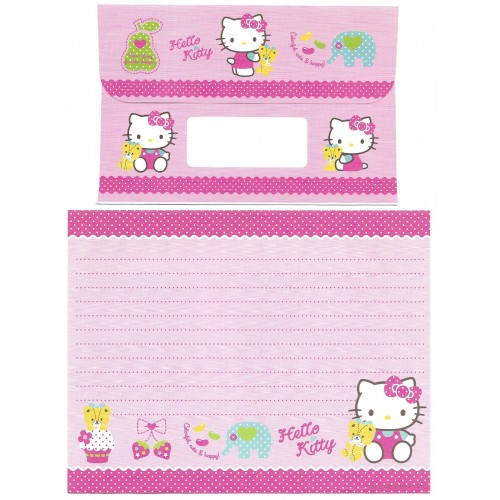 Ano 2010. Conjunto de Papel de Carta Hello Kitty CCH Sanrio