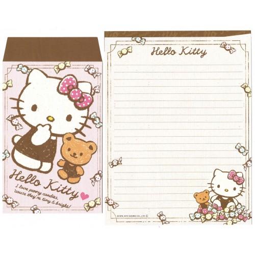 Ano 2013. Kit 2 Conjuntos de Papel de Carta Hello Kitty Candies Sanrio