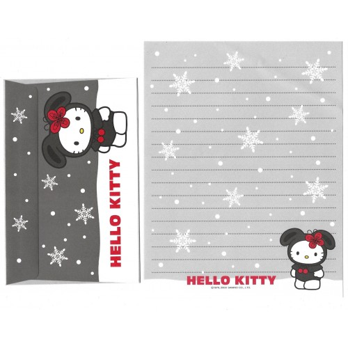 Ano 2000. Conjunto de Papel de Carta Hello Kitty Snow Vintage Sanrio