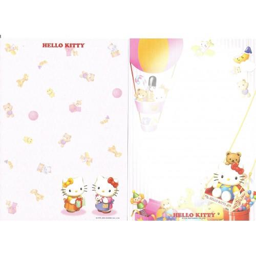 Ano 2004. Kit 2 Papéis de Carta AVULSOS Hello Kitty TOYS Sanrio