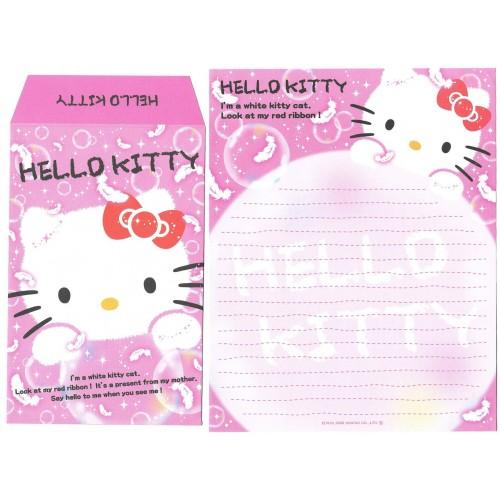 Ano 2008. Conjunto de Papel de Carta Hello Kitty White Sanrio