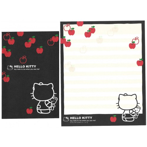 Ano 2008. Conjunto de Papel de Carta Hello Kitty Apple Sanrio