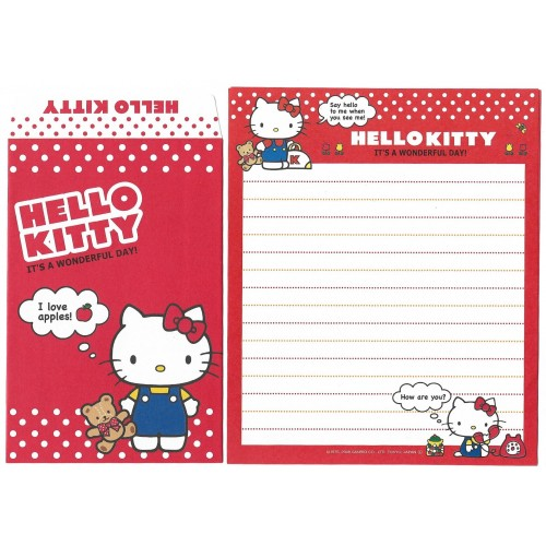 Ano 2008. Conjunto de Papel de Carta Hello Kitty Phone Sanrio