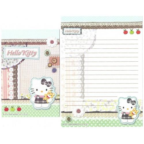 Ano 2008. Conjunto de Papel de Carta Hello Kitty Button CVD Sanrio
