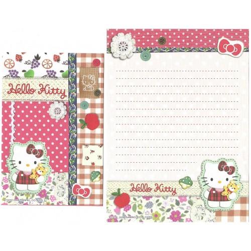 Ano 2008. Conjunto de Papel de Carta Hello Kitty Button CVM Sanrio